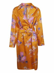 Dries Van Noten Floral Print Coat