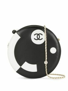 Chanel Pre-Owned 2003-2004 CC round shoulder bag - Black