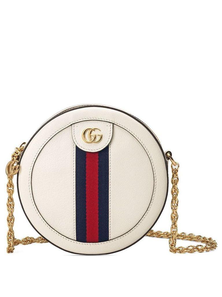 Gucci Ophidia mini round shoulder bag - White