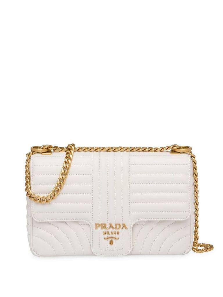 Prada Diagramme large shoulder bag - White