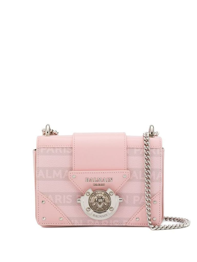 Balmain logo print shoulder bag - Pink