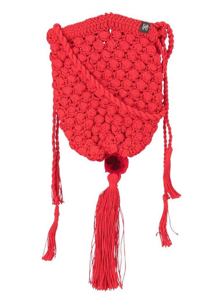 Nannacay Marina knitted shoulder bag - Red