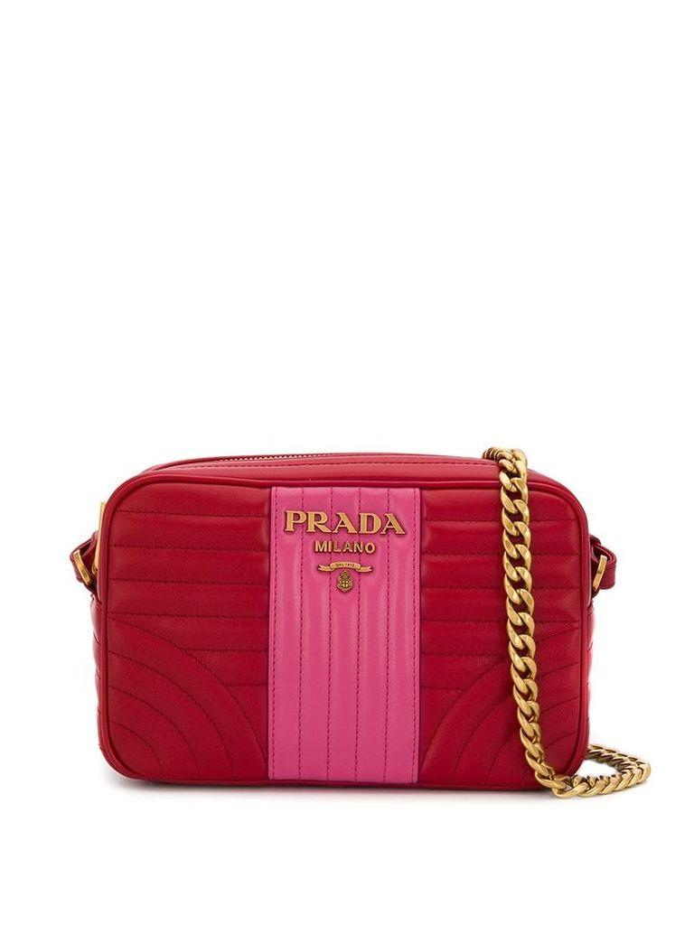 Prada Diagram quilted shoulder bag - Red