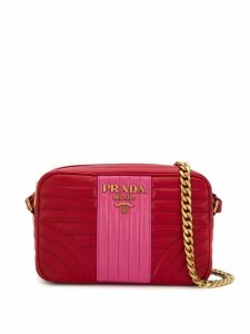 Prada Diagram quilted shoulder bag - Red