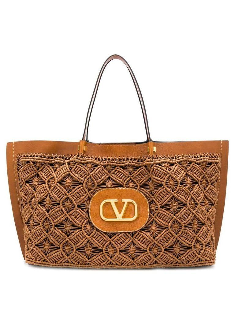 Valentino 'V' logo tote bag - Brown