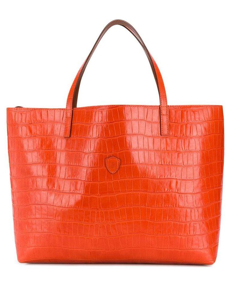 Felisi textured large tote bag - Orange