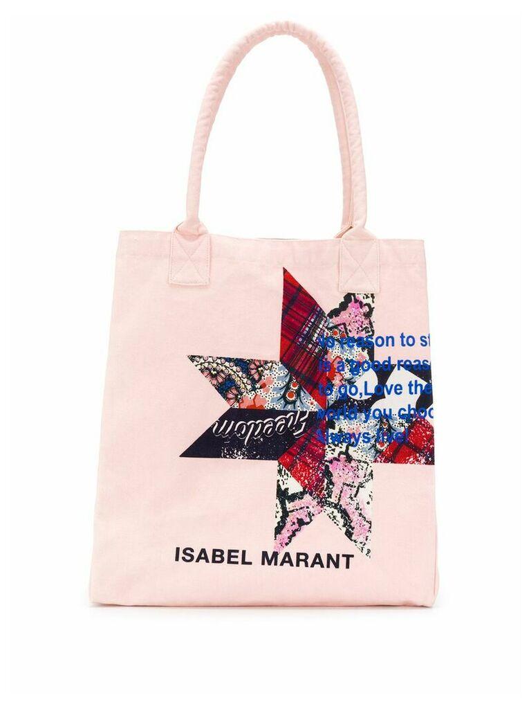 Isabel Marant Yenky printed tote - Pink