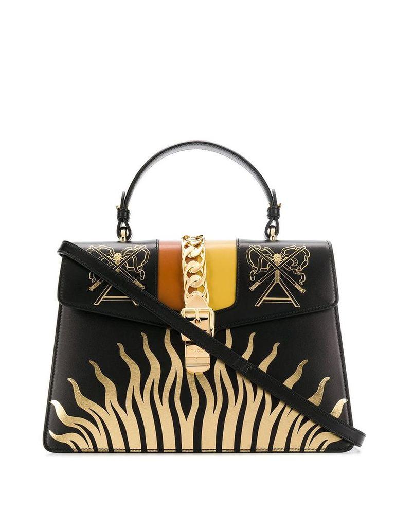 Gucci Sylvie embroidered bag - Black
