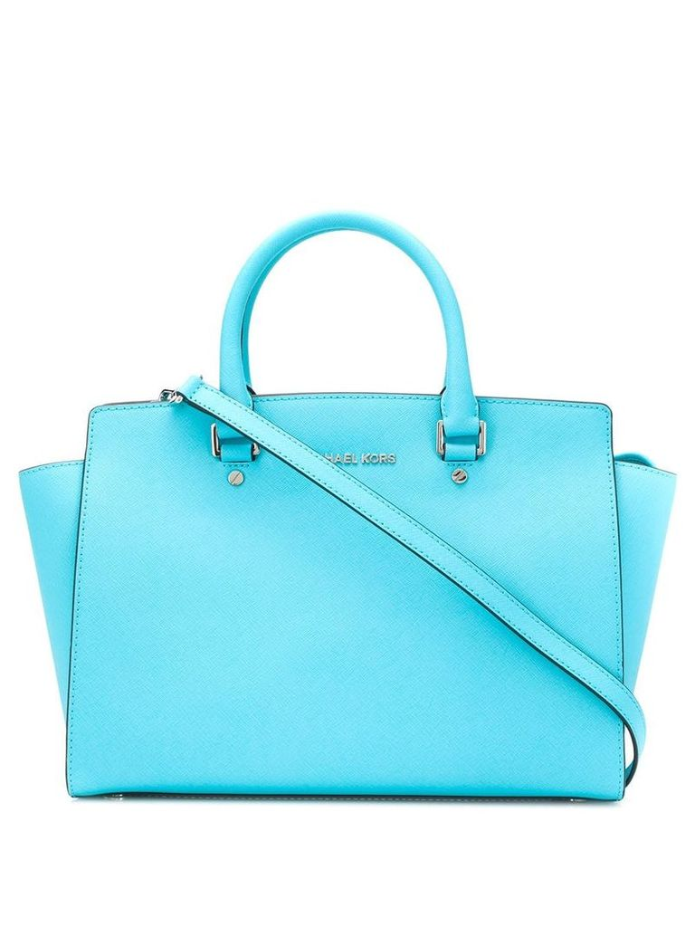 Michael Kors logo plaque tote bag - Blue