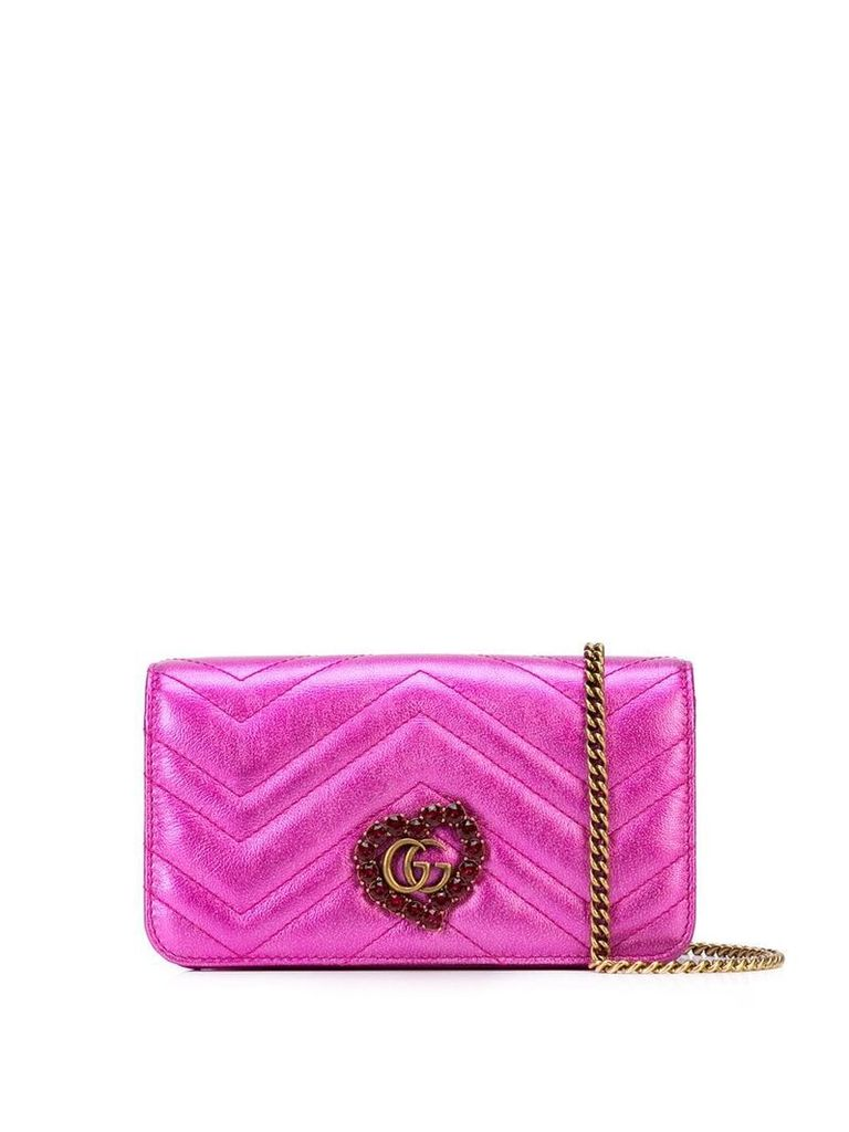 Gucci quilted metallic shoulder bag - Pink
