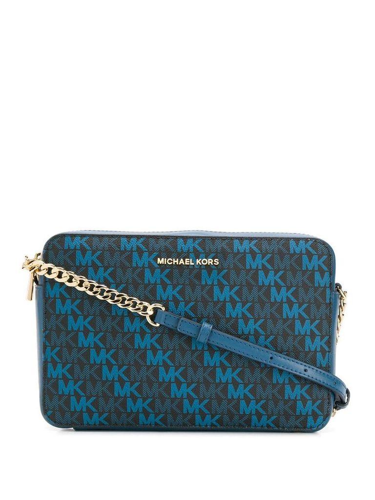 Michael Michael Kors Jet Set monogram crossbody bag - Blue