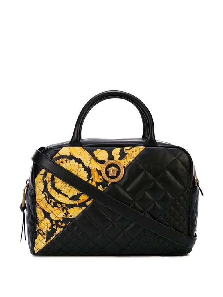 Versace Baroque quilted Medusa bag - Black
