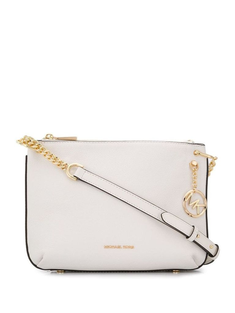 Michael Michael Kors logo chain shoulder bag - White