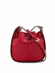 Valentino Valentino Garavani Rockstud bucket tote - Red