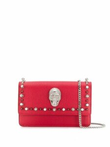 Philipp Plein Studs skull embellished bag - Red