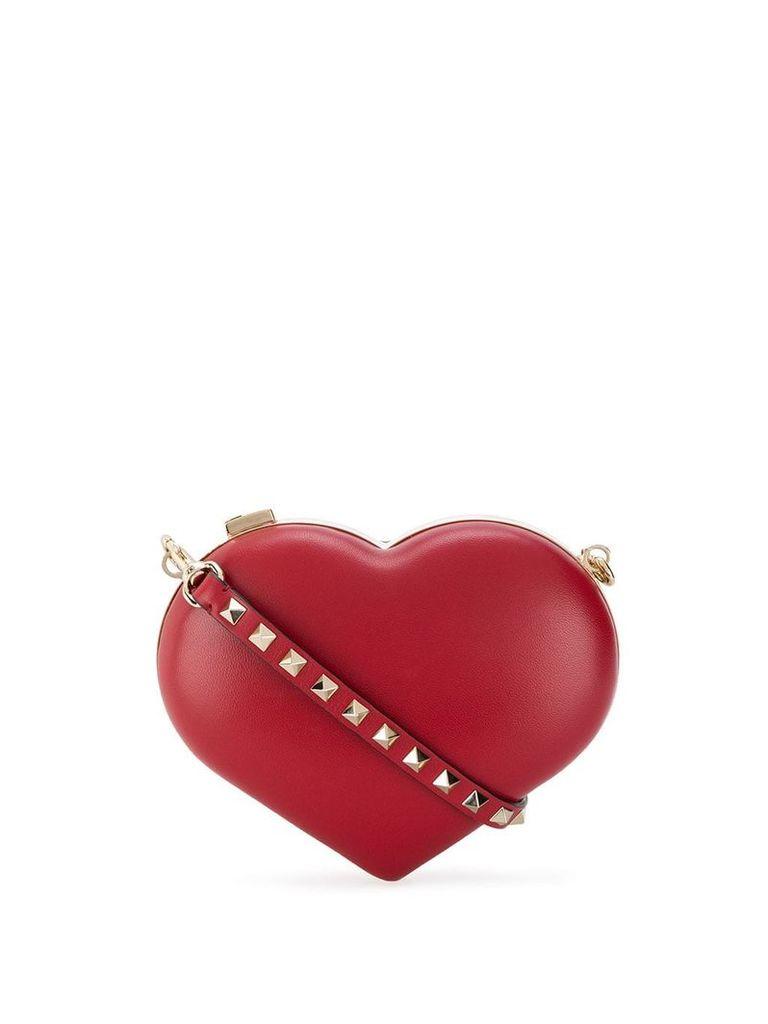 Valentino Valentino Garavani heart shoulder bag - Red