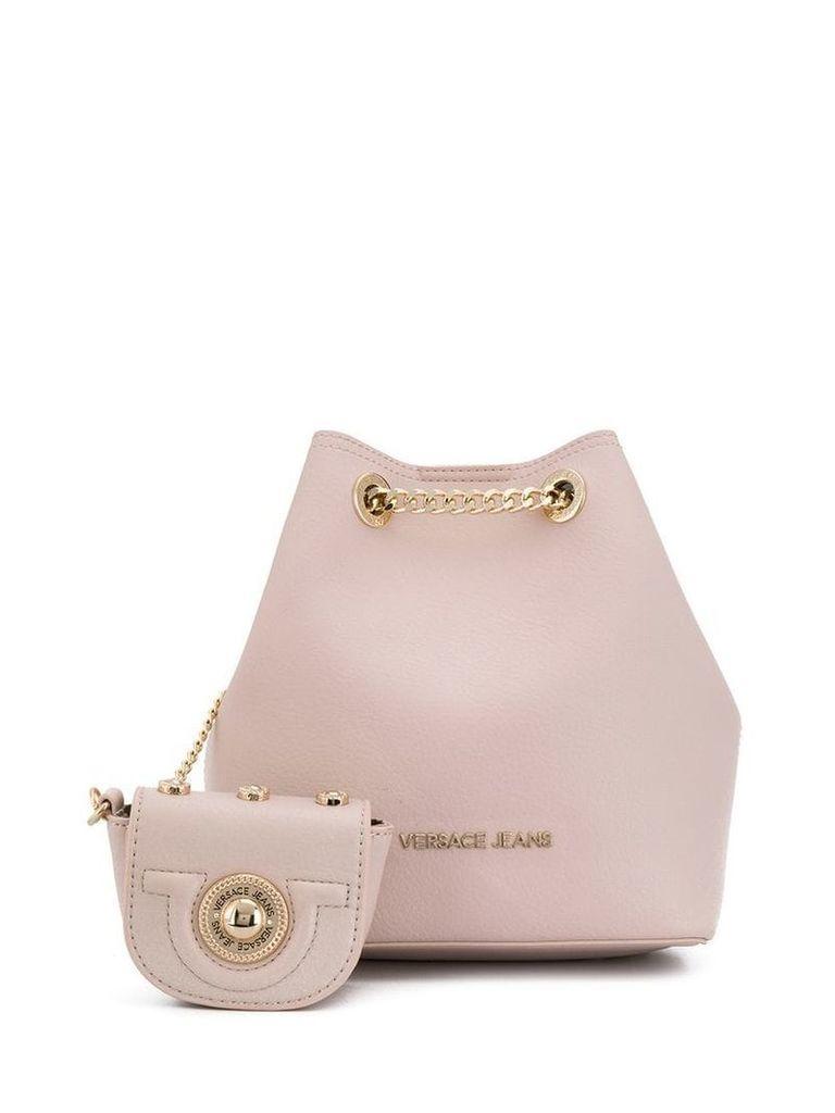 Versace Jeans logo bucket bag - Pink