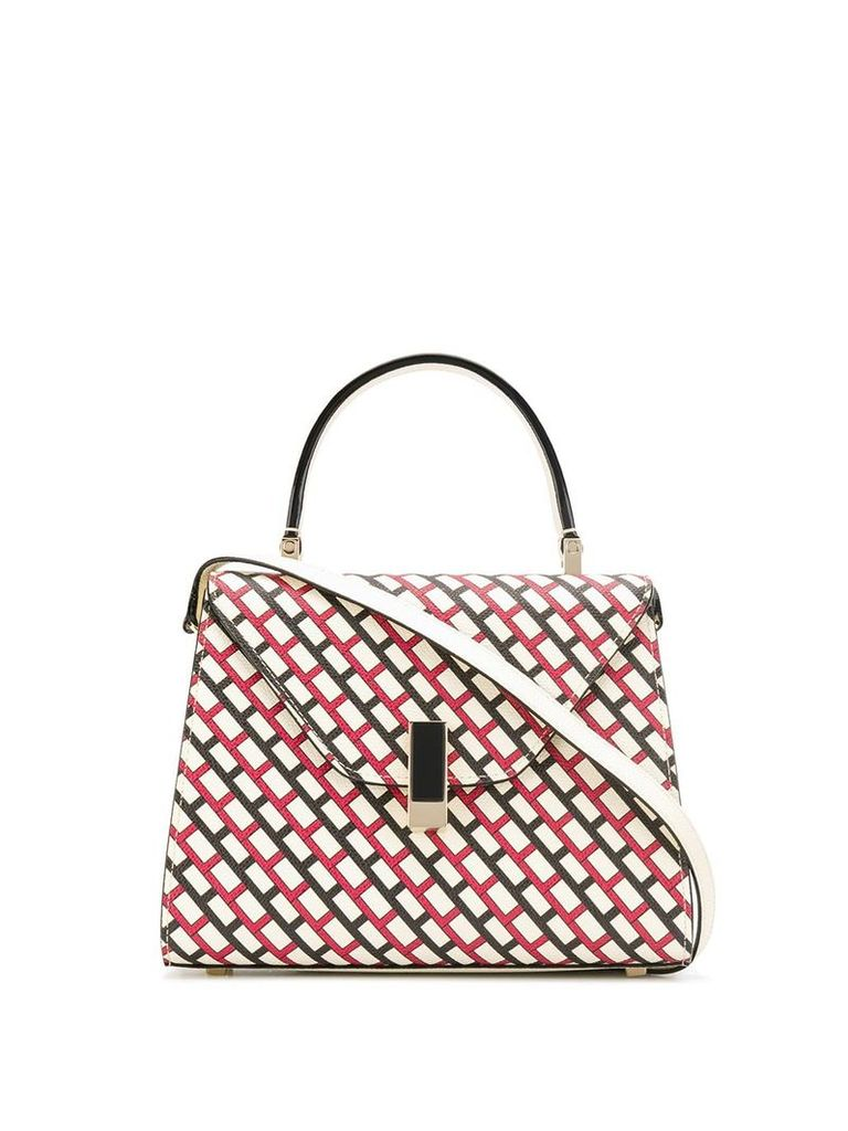 Valextra abstract printed tote - Neutrals
