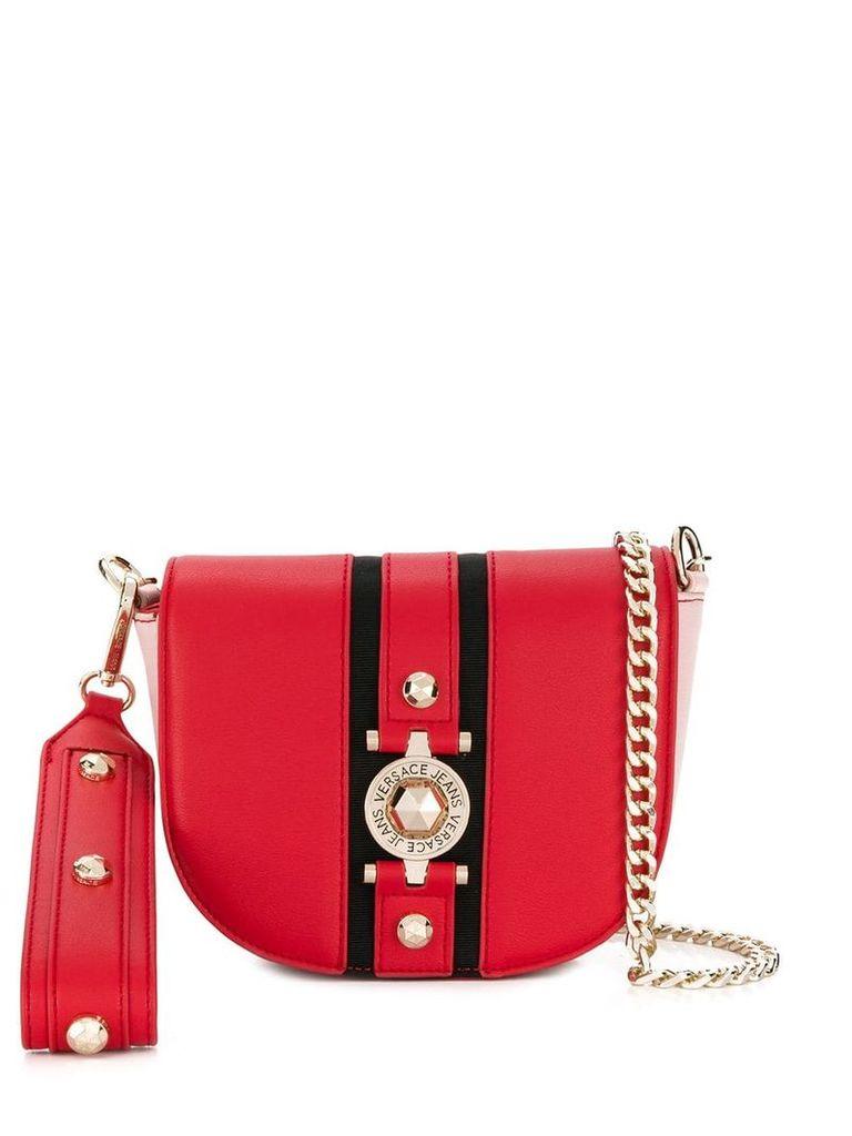 Versace Jeans logo shoulder bag - Red