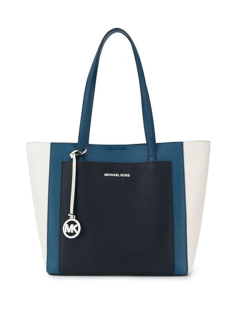 Michael Michael Kors Gemma large tri-colour tote - Blue