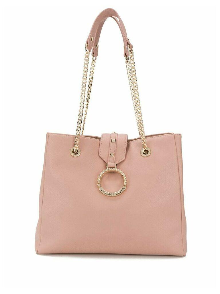 Versace Jeans logo shoulder bag - Pink