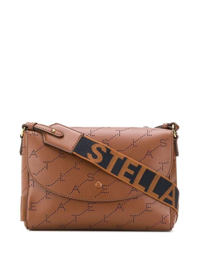 Stella McCartney monogram print shoulder bag - Brown
