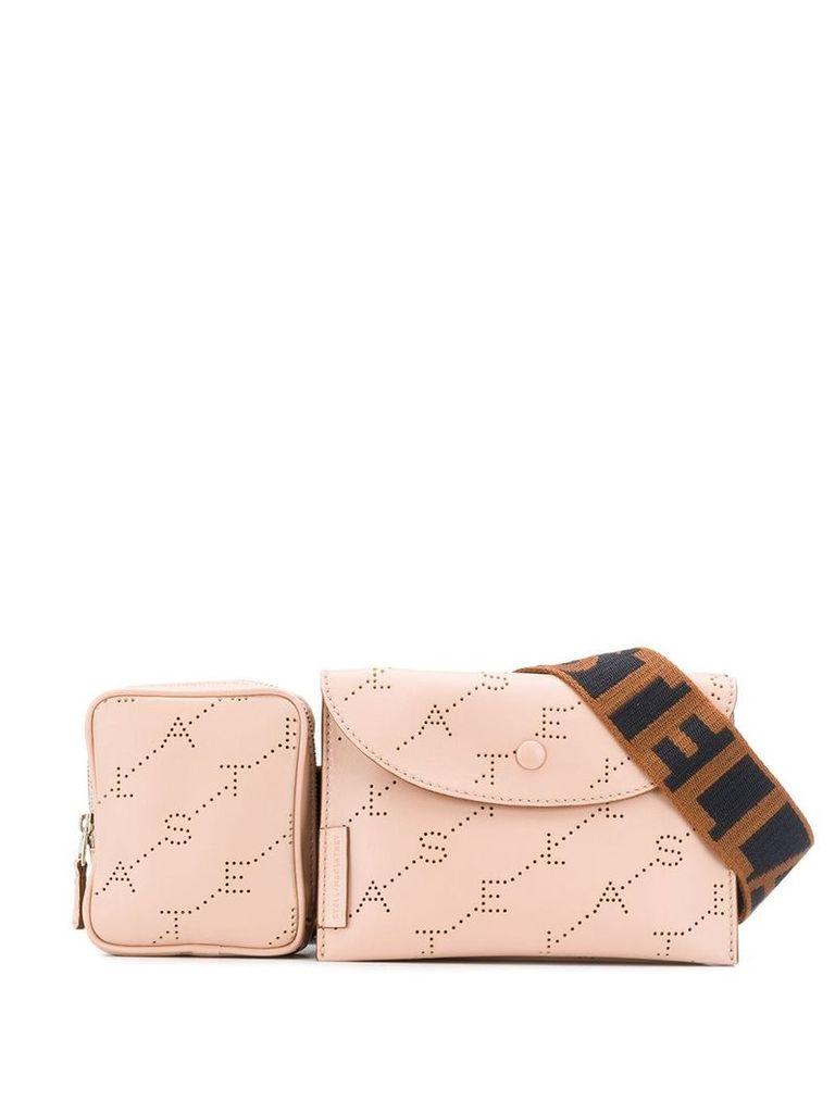 Stella McCartney monogram print belt bag - Pink