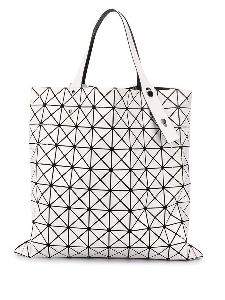 Bao Bao Issey Miyake geometric panel tote - White
