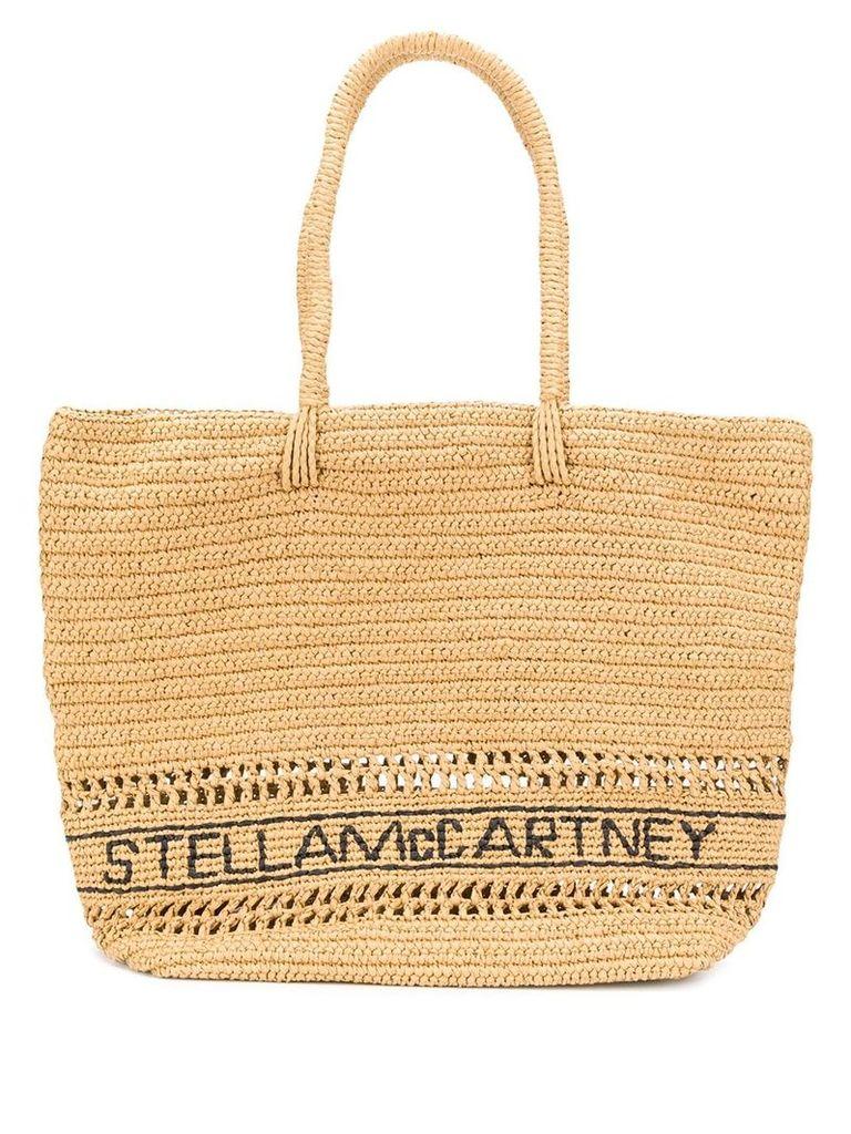 Stella McCartney woven straw shopper - Neutrals