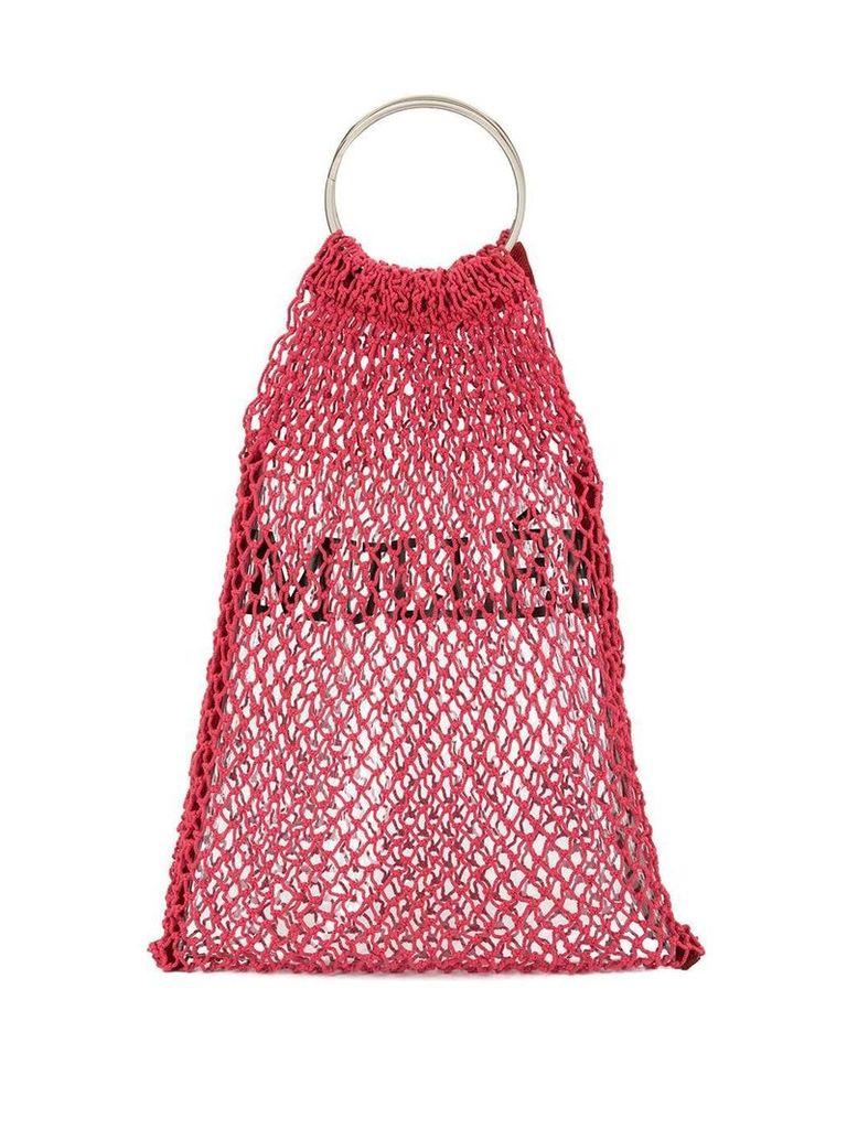 Muller Of Yoshiokubo mesh logo bag - Red