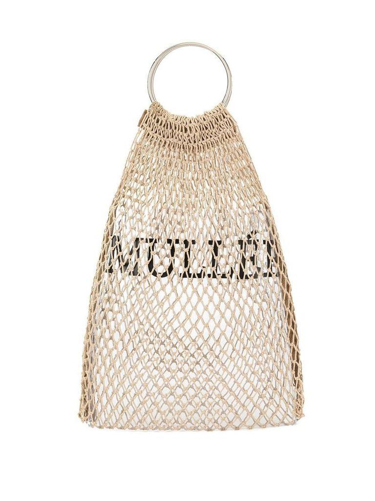 Muller Of Yoshiokubo mesh logo bag - Brown