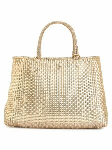 Anteprima woven tote bag - Gold