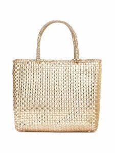 Anteprima woven medium tote bag - Gold