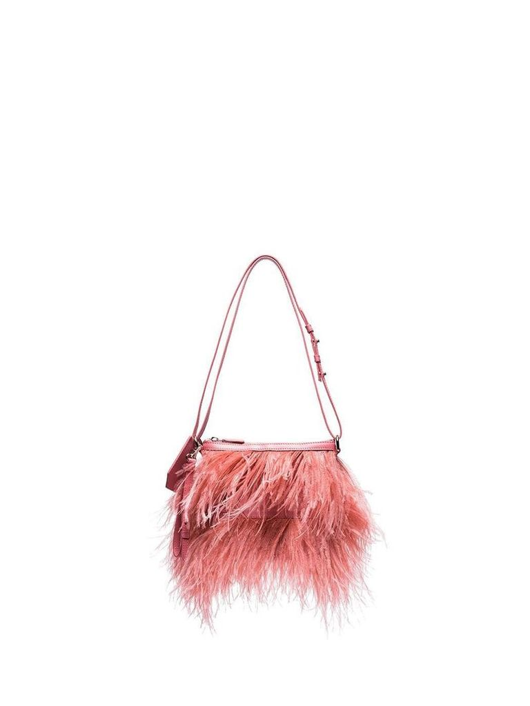 Marques'Almeida feather shoulder bag - Pink