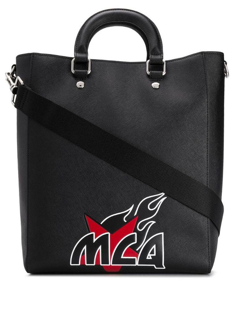 McQ Alexander McQueen contrast logo tote - Black