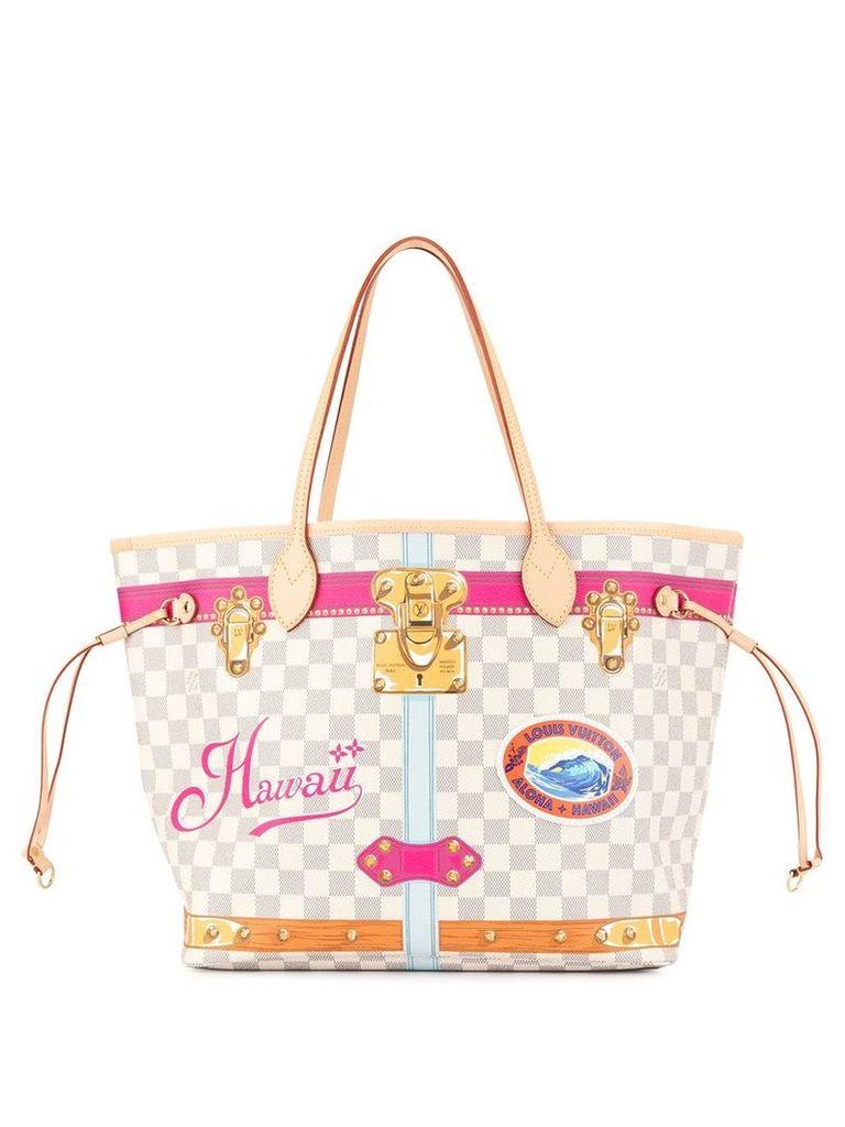 Louis Vuitton Vintage Neverfull Damier Azur tote bag - Neutrals