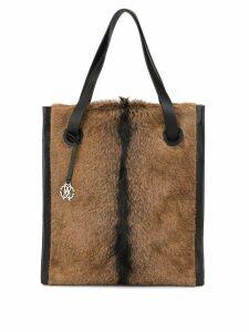 Roberto Cavalli shopping tote - Brown