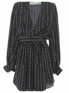 Off-white Stripe Mini Dress