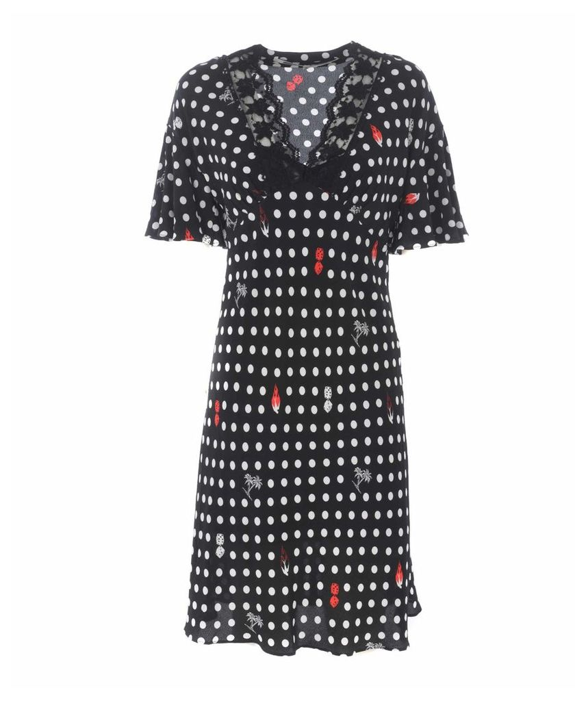Mcq Alexander Mcqueen Polka Dots Dress