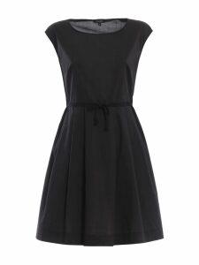 Woolrich Black Cotton Poplin A-line Dress