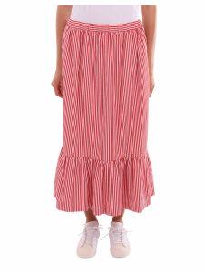 Comme Des Garçons Girl Red And White Skirt