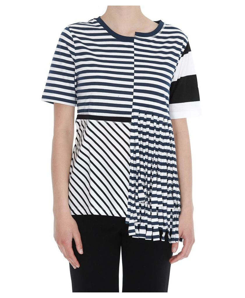 Loewe Asymmetric Striped T-shirt With Fringes