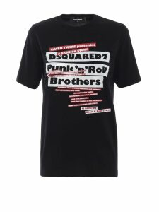 Dsquared2 Punknroll Black Cotton Tee
