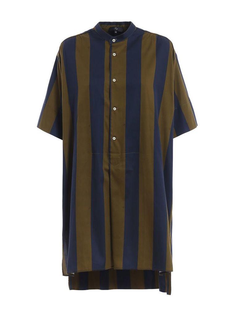 Fay Striped Asymmetric Oversized Dress