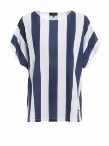 Fay Striped Cotton Boxy T-shirt