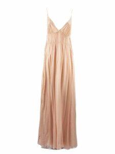 Alberta Ferretti Pastel Pink Silk Long Dress