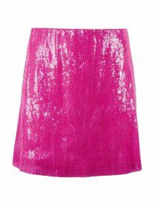 Alberta Ferretti Fuchsia Sequin Skirt