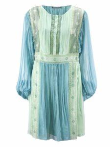 Alberta Ferretti Light Blue Chiffon Dress