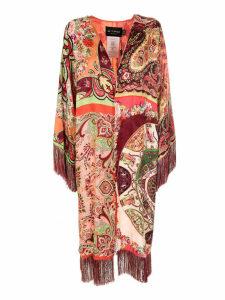 Etro Fringed Edges Kimono Coat