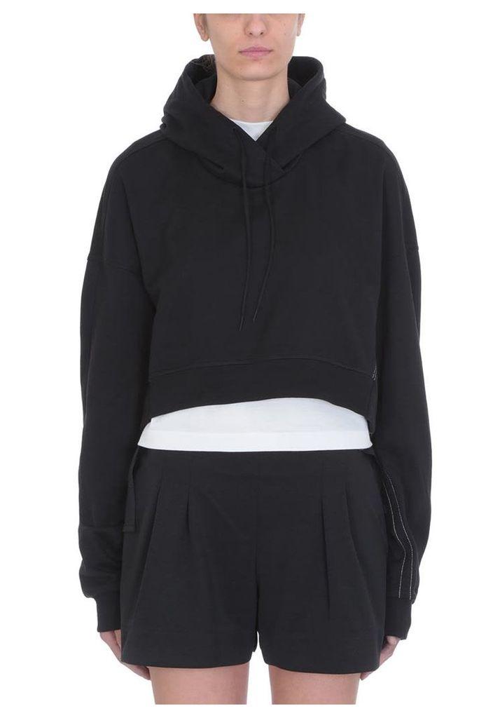 Y-3 Love Hoodie Black Cotton Sweatshirt